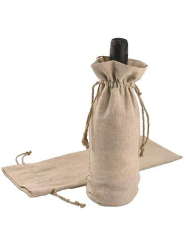Jute Wine Drawstrings Bags - WB989
