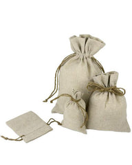 Natural Muslin Favor Bags (Pack of 12)