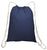 Promotional Sport Pack Cotton Cinch Bags Navy Blue