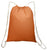 Cotton Value Sport Pack Medium Size Drawstring Bag Orange
