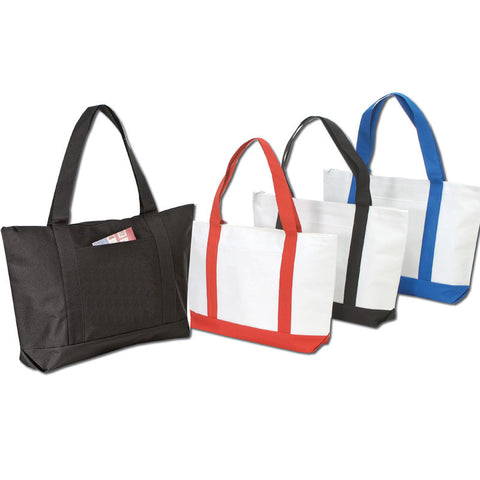 Polyester Tote Bags with Zipper - BS217