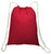 Drawstring Backpack Cotton Sack Bag Red