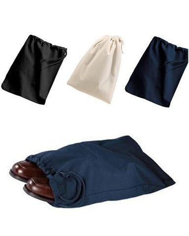 100% Cotton Shoe Bags W/ Drawstring - SBG10