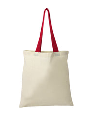 100% Cotton Tote Bag With Color Handle - TB160