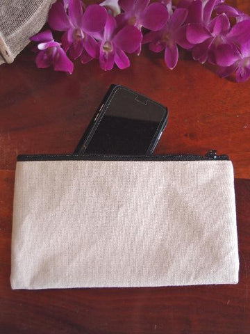 Rectangular Jute Pouch with Zipper Closure - TM694
