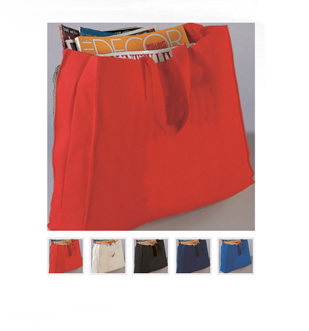 Canvas Full Gusset Horizontal Tote Bag TF275