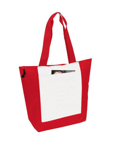 Polyester Zipper Tote Bag - BS185
