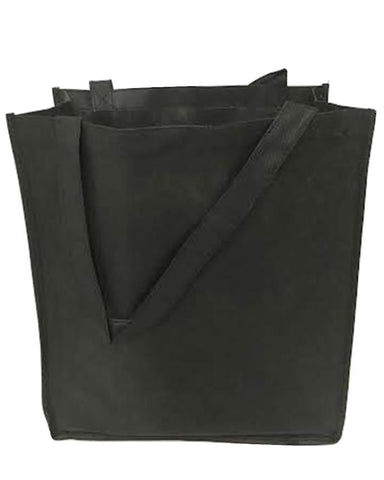 "15"" Medium Size Non Woven Grocery Tote Bag w/Gusset - GN28"
