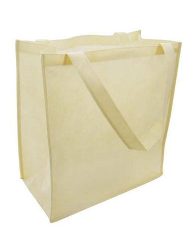 "17"" Large Size Non Woven Grocery Tote Bag w/Gusset - GN38"