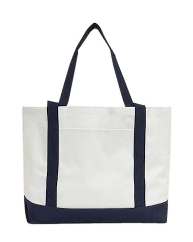 Tote Bag With Large Outside Pocket - STB