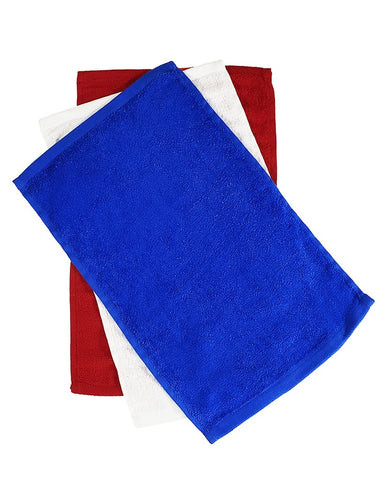 "11"" x 18"" Terry Velour Fingertip Towel Hemmed (12-Pack) - T600"