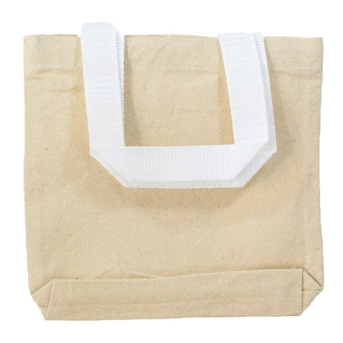 "8"" MINI Canvas Tote Bag - TC208"