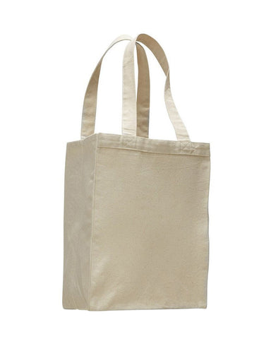 Canvas Gusset Shopping Tote Bag - TF210