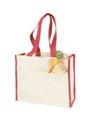 Heavy Canvas Gusset Tote Bag Two-Tone TF211