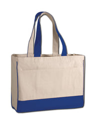 Canvas Shopping Tote Bag w/ Big Front Pocket - TF214