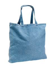 Washed Denim Twill Tote Bag - TF270