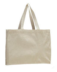 Canvas Full Gusset Horizontal Tote Bag - TF275