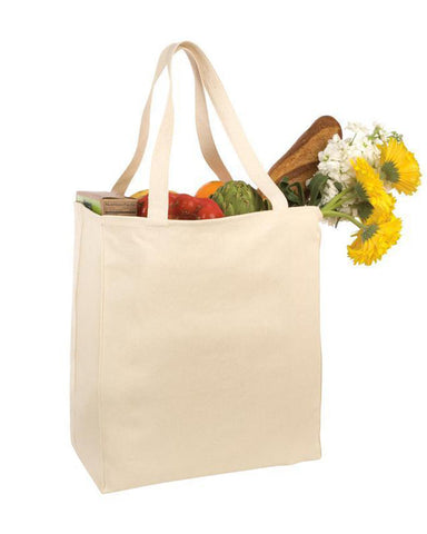 Cotton Twill Over-the-Shoulder Grocery Tote Bag TF280