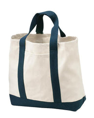 Large Heavy Cotton Canvas Two Tone Tote Bag TF285
