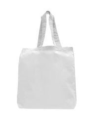 100% Cotton Tote Bag W/ Bottom Gusset - TG110