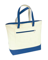 Heavy Canvas Zippered Tote Bags Two-Tone TG213