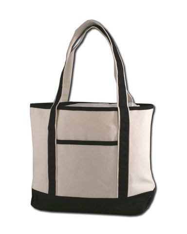 Canvas Extra Large Deluxe Tote Bag w/Front Pocket - TG215