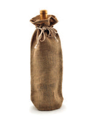 Jute Wine Bags with Drawstring - WJ163