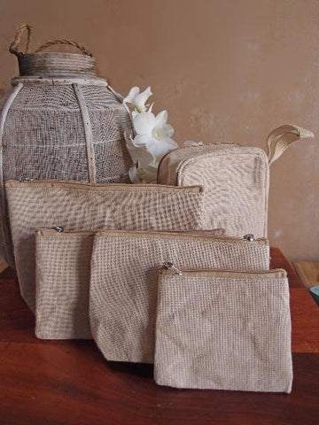 Mini Jute Blend Canvas Pouch - TM693
