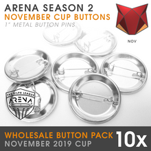 "Load image into Gallery viewer, Wholesale 10-Pack of Ferocious Cup 1"" Metal Buttons"