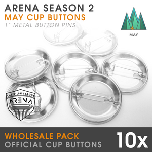 "Wholesale 10-Pack of Forest Cup 1"" Metal Buttons"