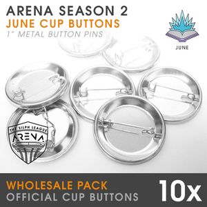 "10-Pack of Sorcerous Cup 1"" Metal Buttons-Wholesale"