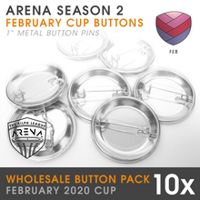 "Load image into Gallery viewer, Wholesale 10-Pack of Rose Cup 1"" Metal Buttons"