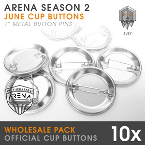 "Catacomb Cup 1"" Metal Buttons- 10 pack Wholesale"