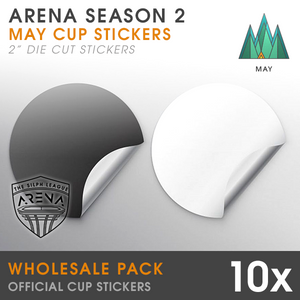 Wholesale 10-Pack of Forest Cup Die-Cut Stickers