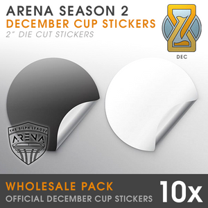 Wholesale Pack of Timeless Cup Badge Die-Cut Stickers