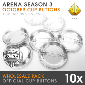 "Wholesale 10-Pack of Sunrise Cup 1"" Metal Buttons"