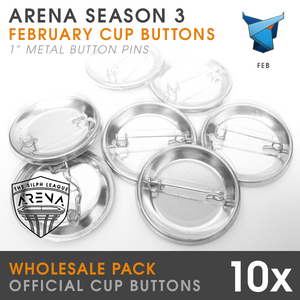 "Labyrinth Cup 1"" Metal Buttons-Wholesale 10-Pack"