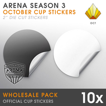 "Load image into Gallery viewer, Wholesale 10-Pack of Sunrise Cup 2"" Die-Cut Stickers"