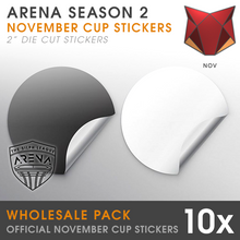 Load image into Gallery viewer, Wholesale Pack of Ferocious Cup Badge Die-Cut Stickers