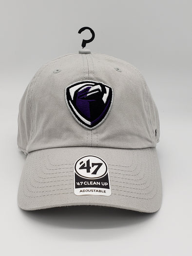 Grey Adjustable Cap - Purple Logo