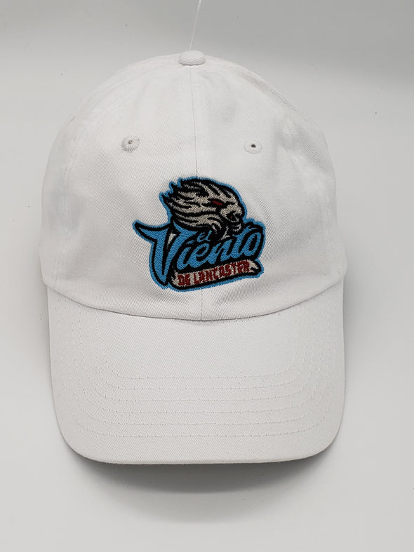 Lancaster JetHawks El Viento Adjustable White Hat