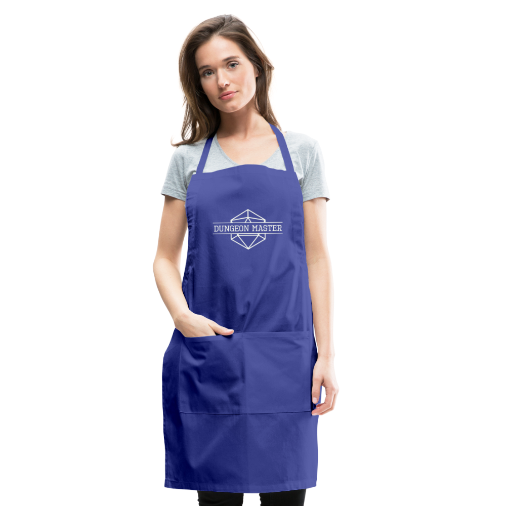 DM Apron - royal blue