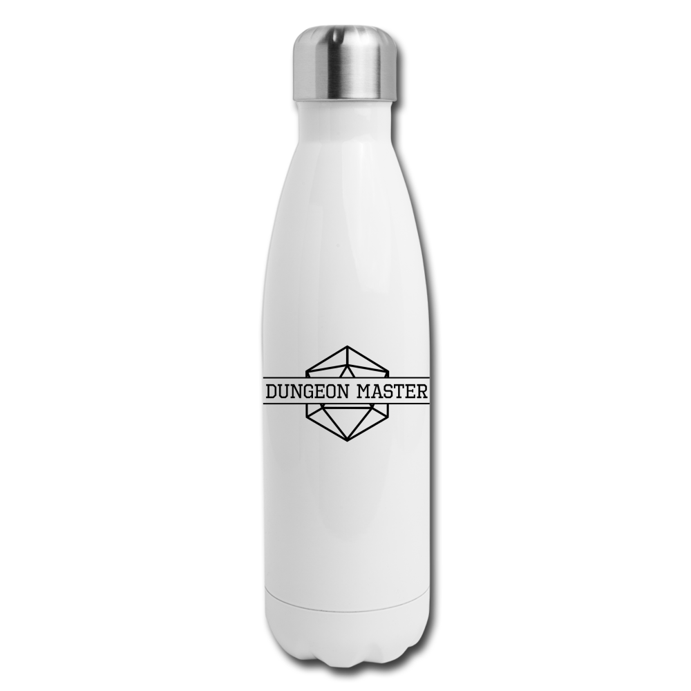 Dungeon Master Insulated Stainless Steel Water Bottle - white