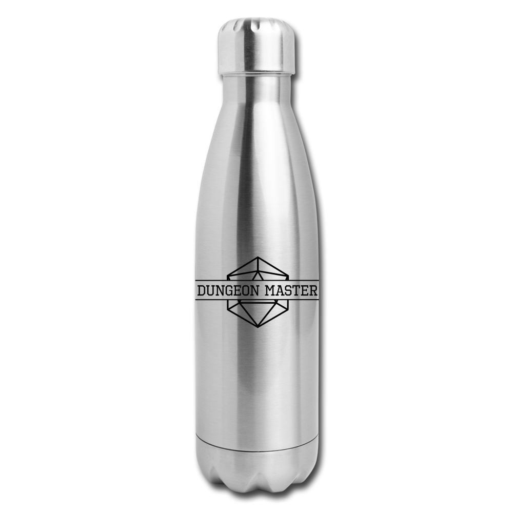 Dungeon Master Insulated Stainless Steel Water Bottle - silver