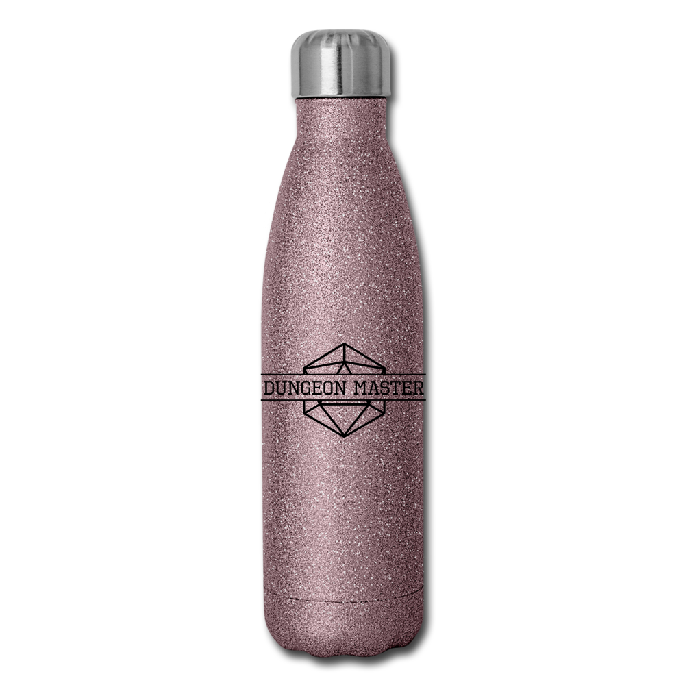 Dungeon Master Insulated Stainless Steel Water Bottle - pink glitter