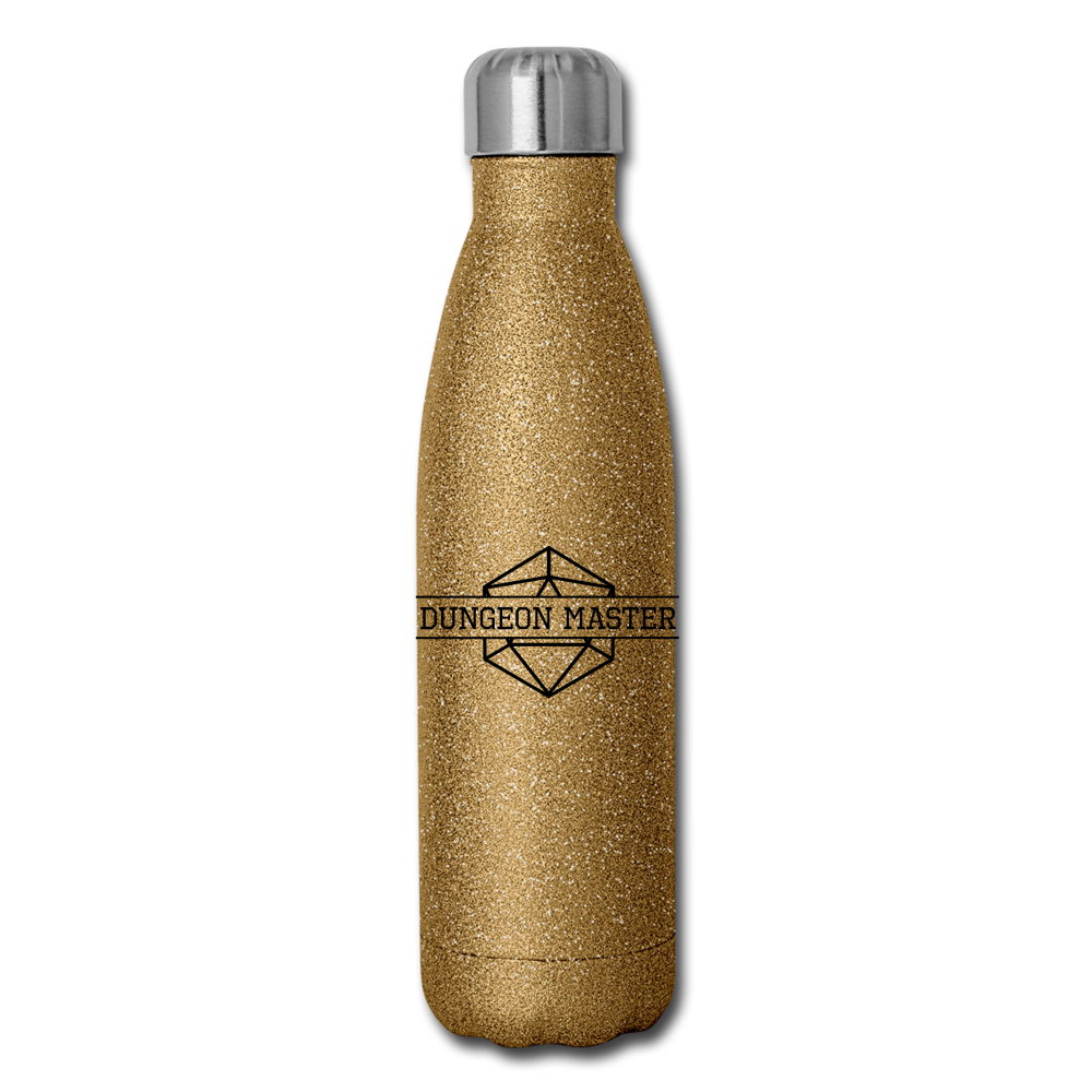 Dungeon Master Insulated Stainless Steel Water Bottle - gold glitter