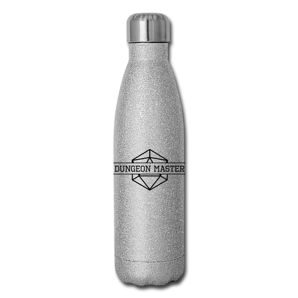 Dungeon Master Insulated Stainless Steel Water Bottle - silver glitter