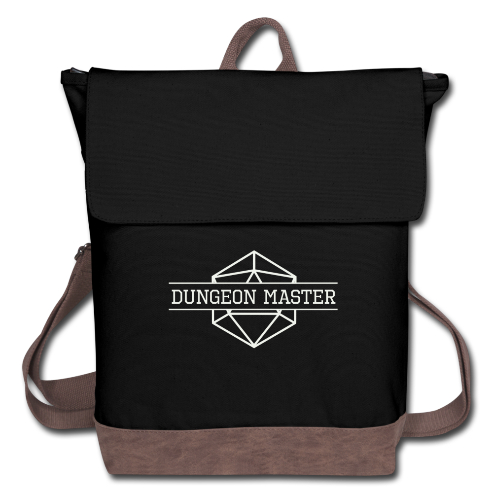 Dungeon Master Canvas Backpack - black/brown