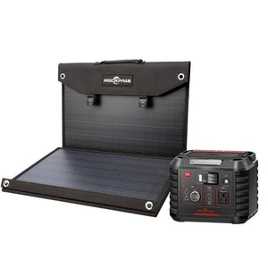 Rockpals 330W Portable Power Station + 100W Solar Panel Kit