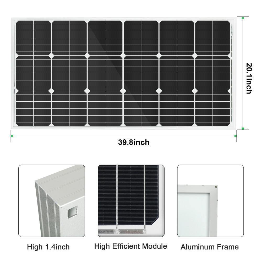 Eco-Worthy 400W Off-Grid Solar System: Solar Panels + Charge Controller + Inverter